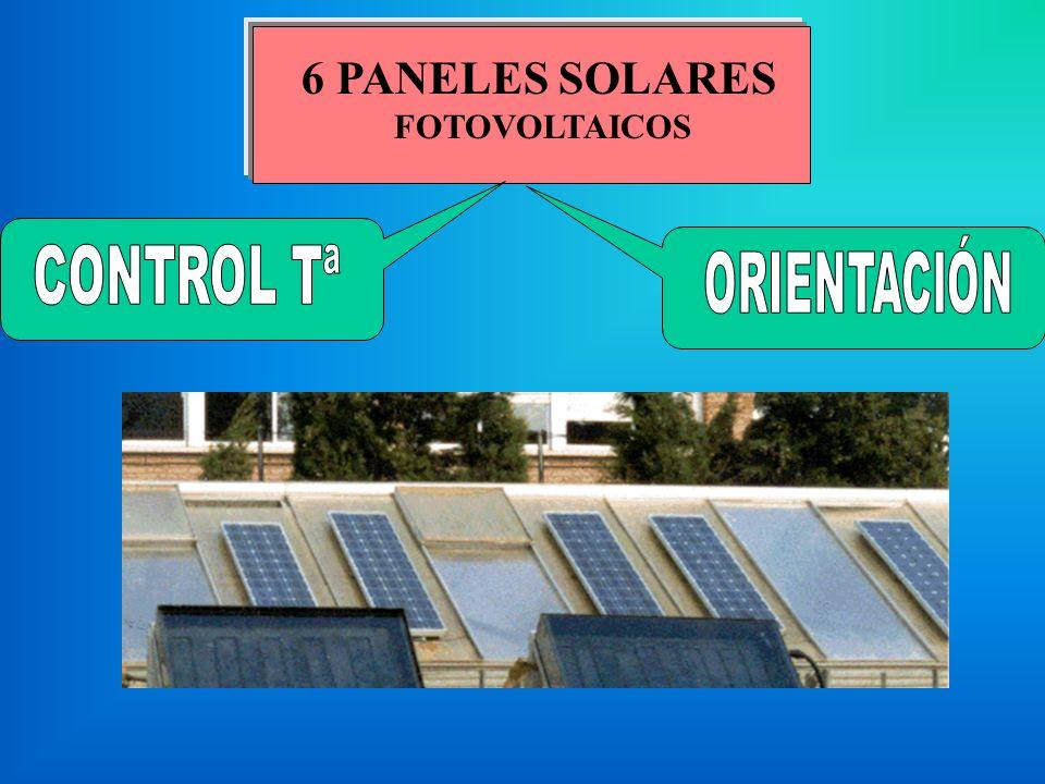 6 PANELES SOLARES FOTOVOLTAICOS ORIENTACIÓN CONTROL Tª