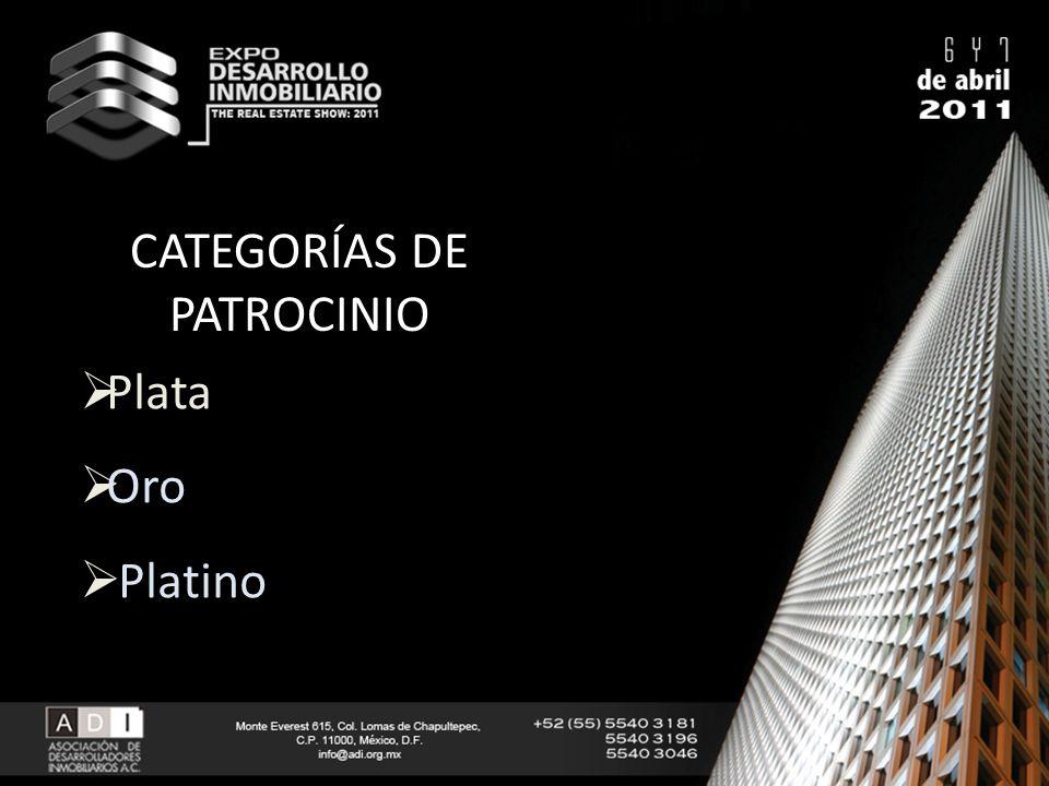 CATEGORÍAS DE PATROCINIO