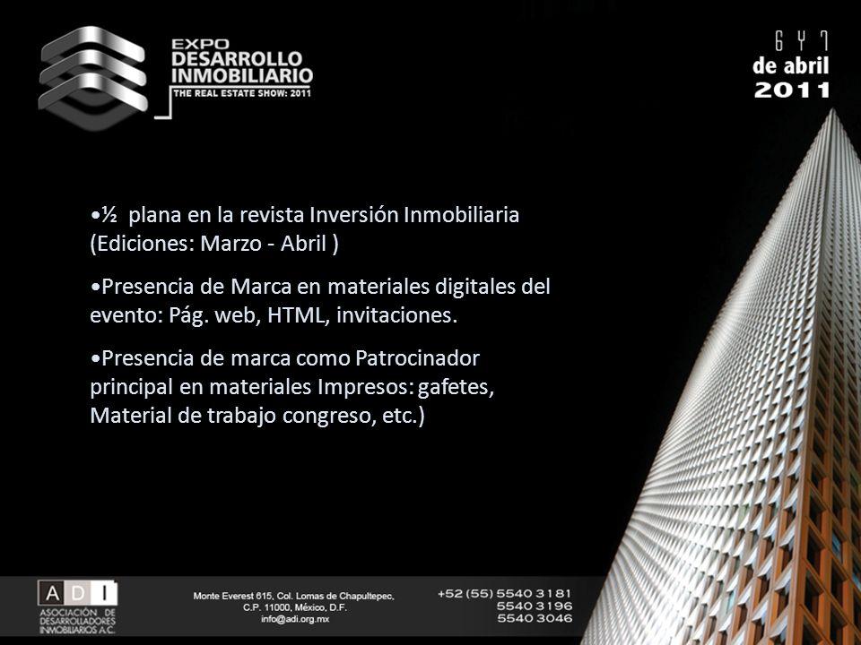 ½ plana en la revista Inversión Inmobiliaria (Ediciones: Marzo - Abril )