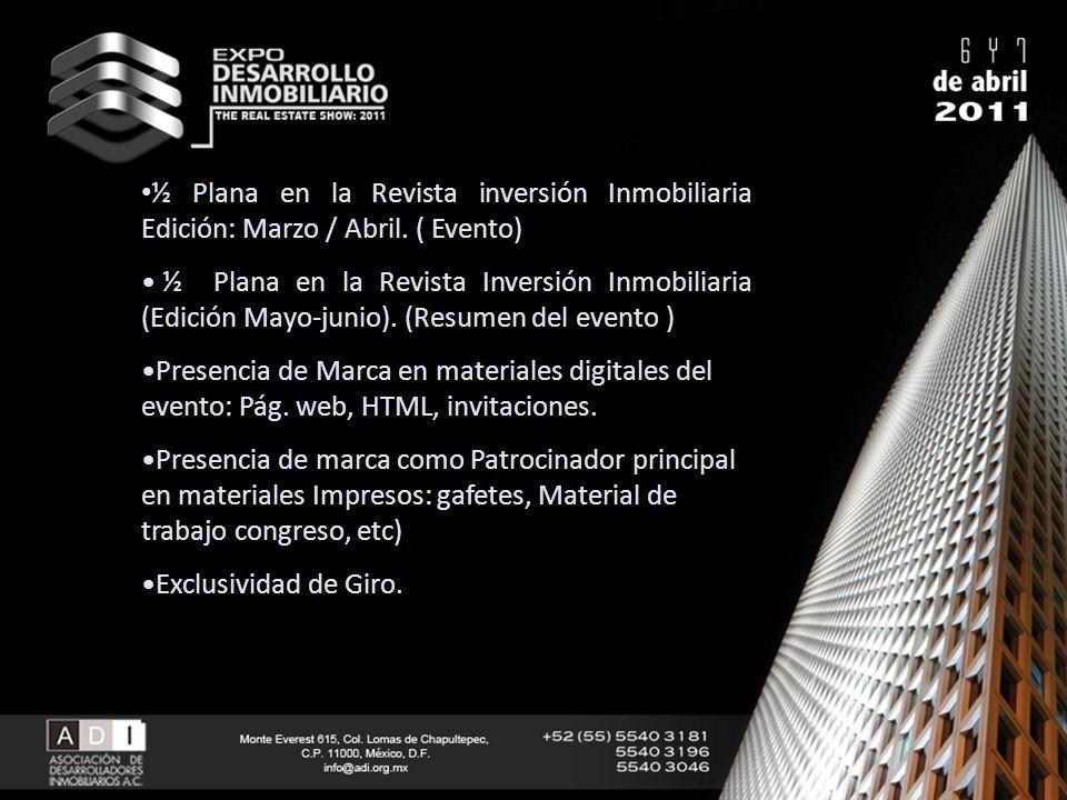 ½ Plana en la Revista inversión Inmobiliaria Edición: Marzo / Abril