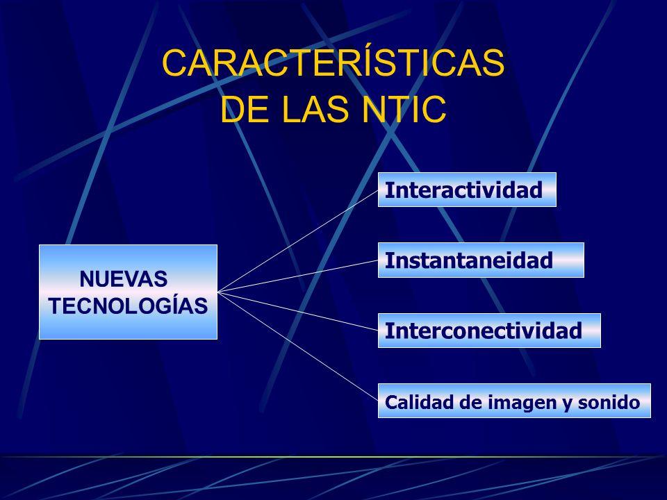 CARACTERÍSTICAS DE LAS NTIC