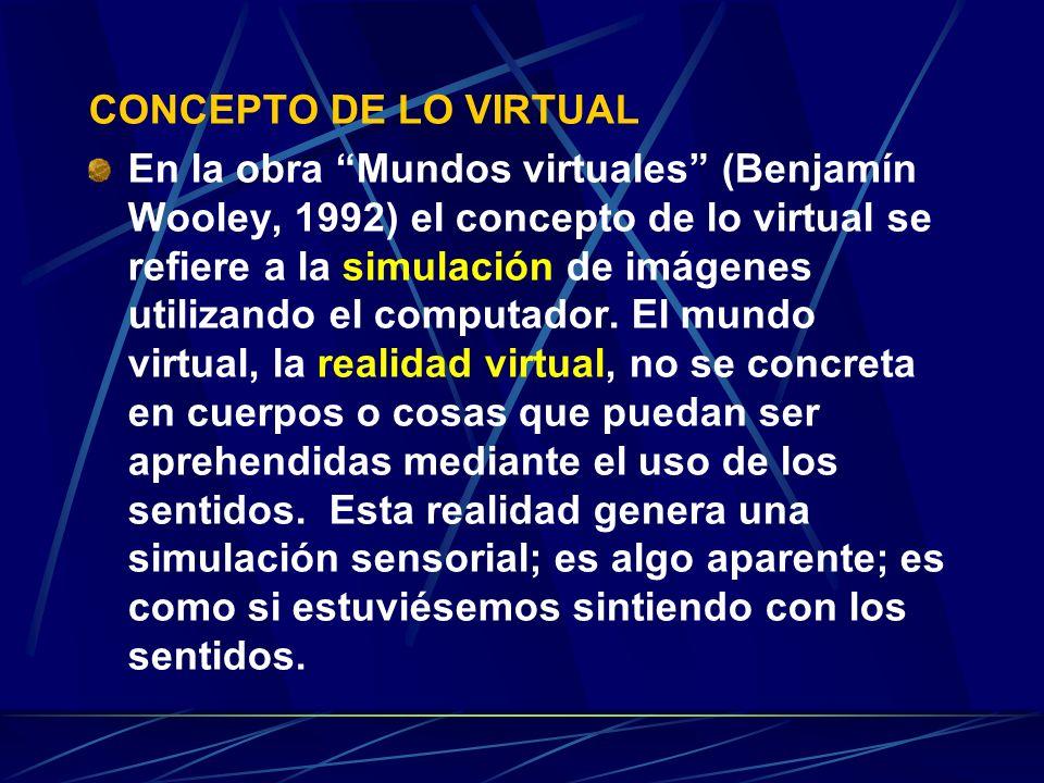 CONCEPTO DE LO VIRTUAL
