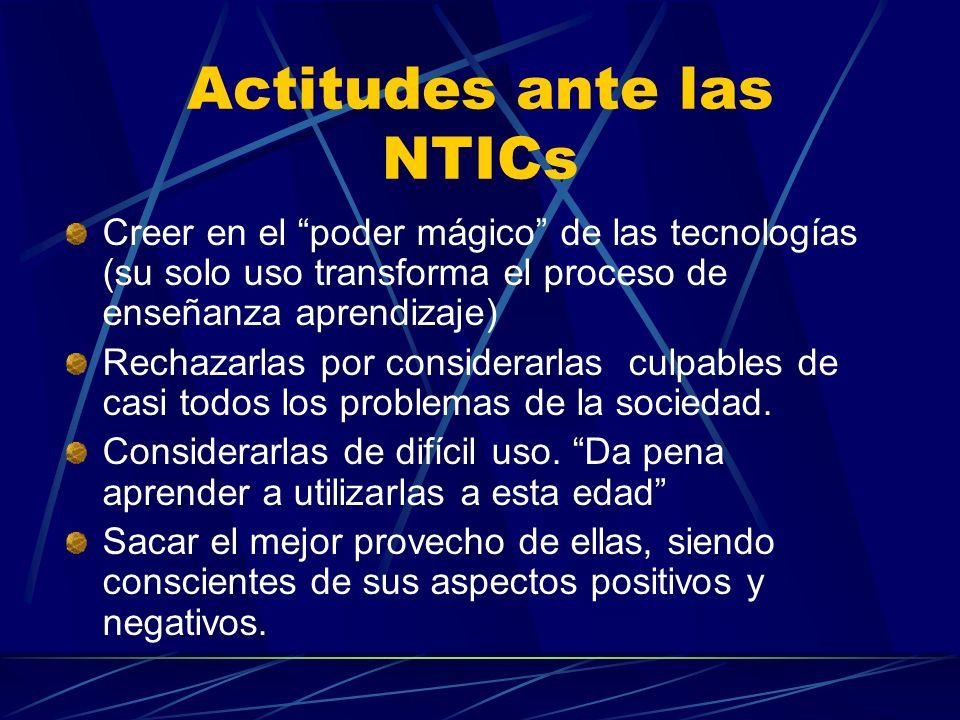 Actitudes ante las NTICs