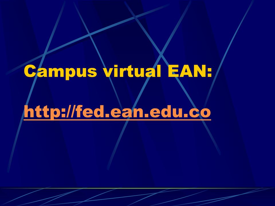 Campus virtual EAN: http://fed.ean.edu.co
