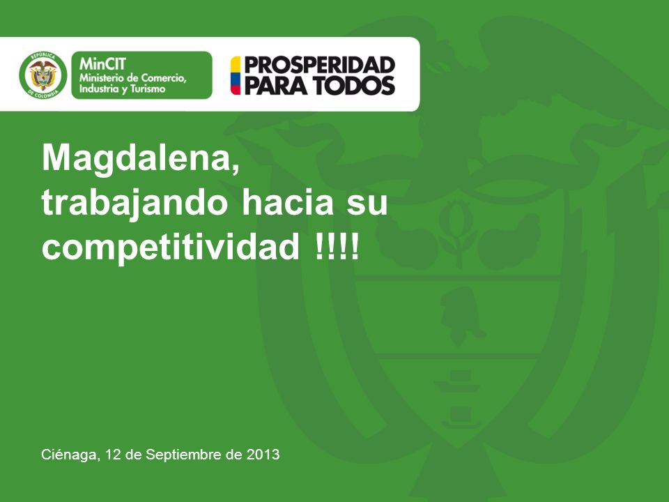 trabajando hacia su competitividad !!!!