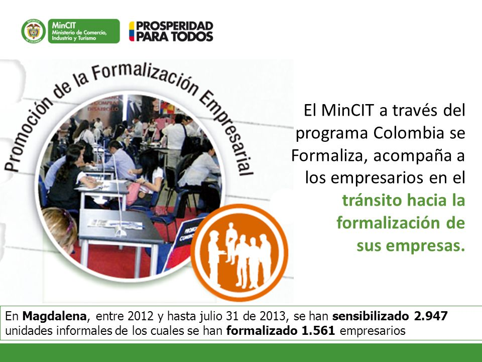 El MinCIT a través del programa Colombia se