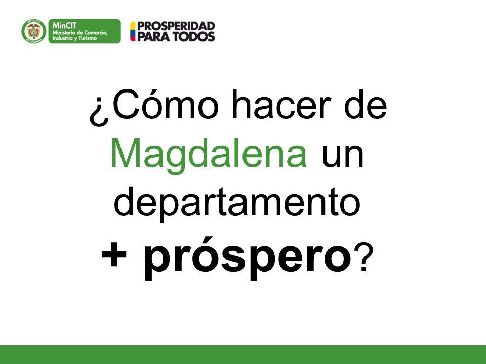 ¿Cómo hacer de Magdalena un departamento