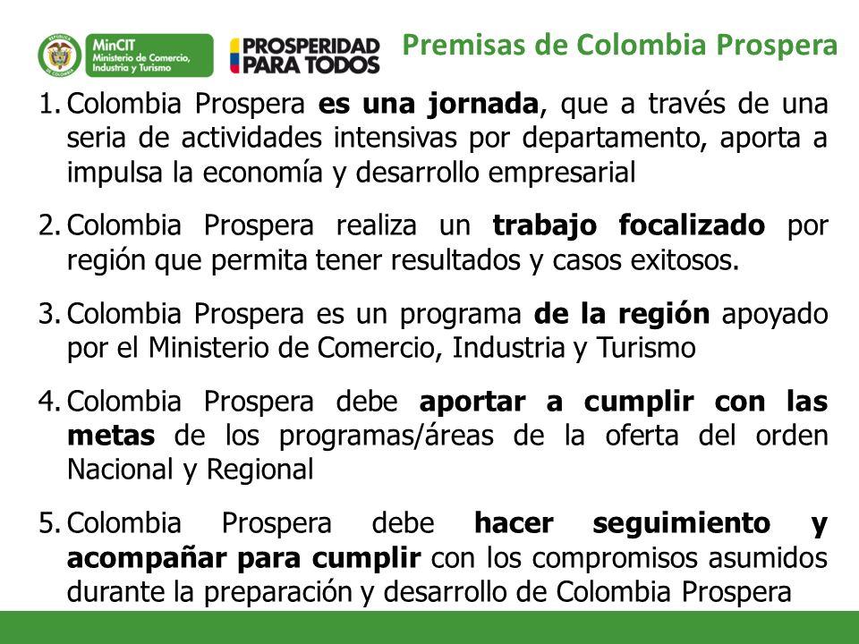 Premisas de Colombia Prospera