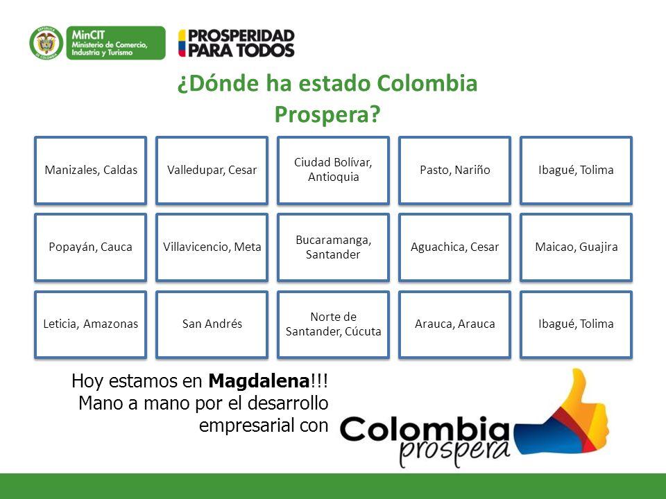¿Dónde ha estado Colombia Prospera