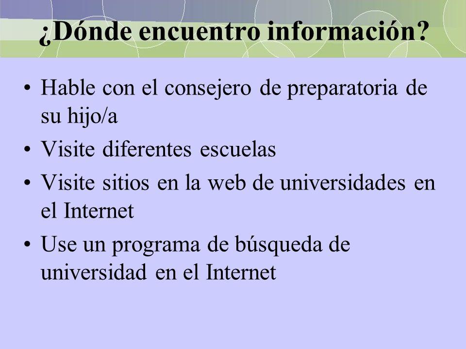 ¿Dónde encuentro información