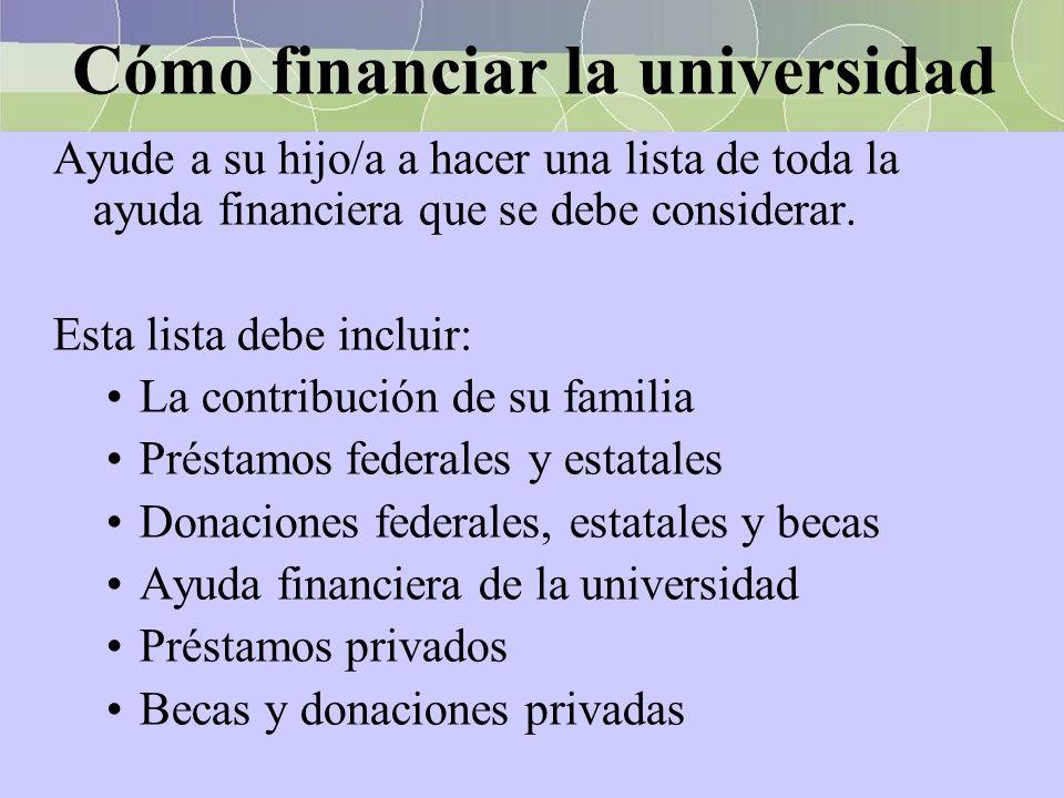 Cómo financiar la universidad