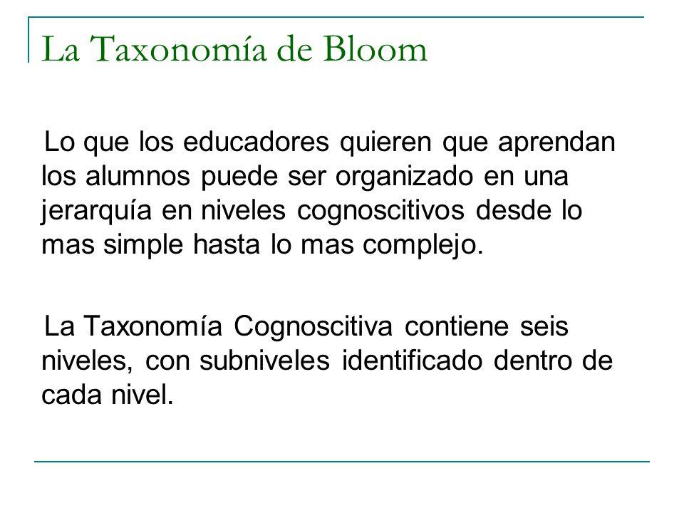 La Taxonomía de Bloom