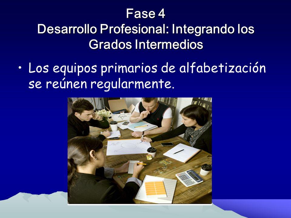 Fase 4 Desarrollo Profesional: Integrando los Grados Intermedios