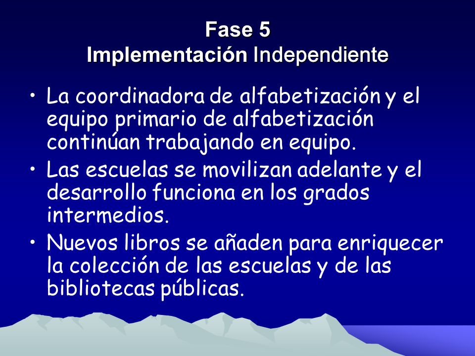 Fase 5 Implementación Independiente