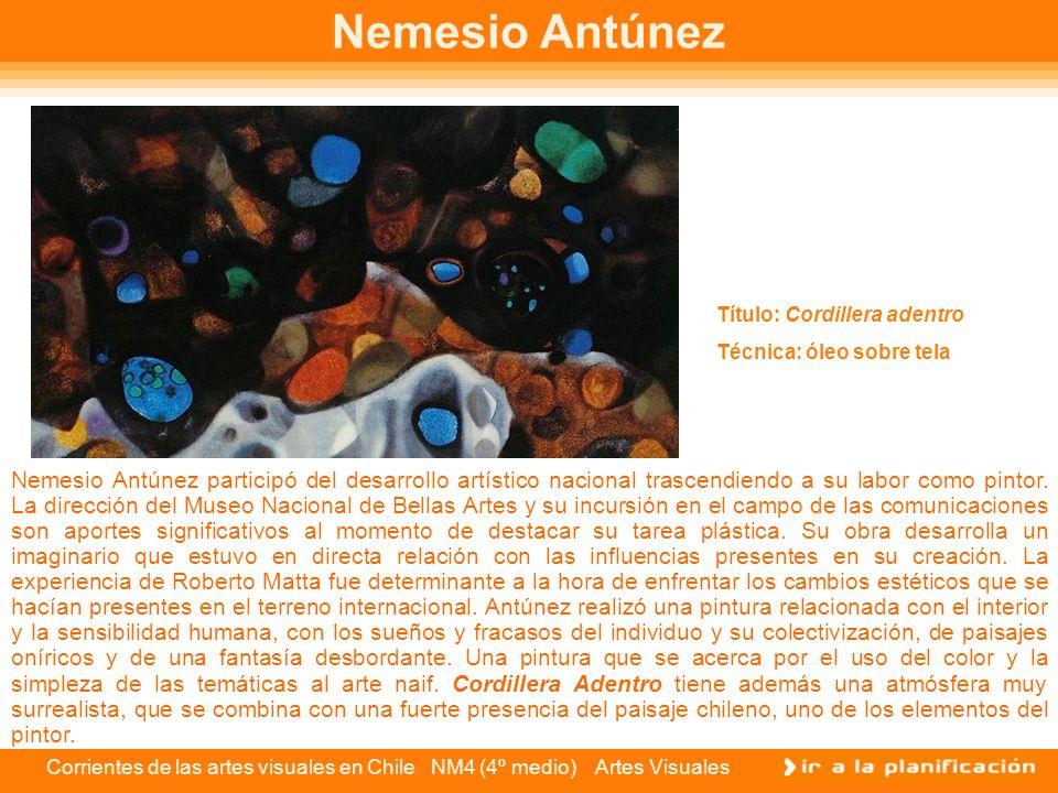 Nemesio Antúnez Título: Cordillera adentro Técnica: óleo sobre tela.