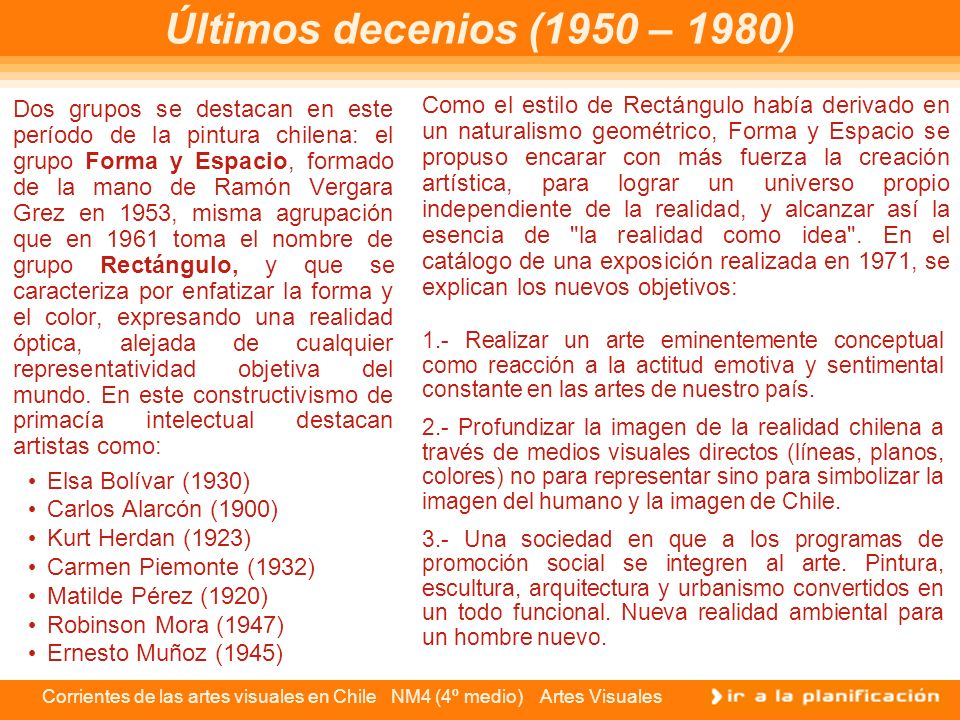 Últimos decenios (1950 – 1980)