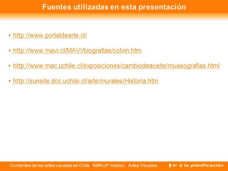 Fuentes utilizadas en esta presentación