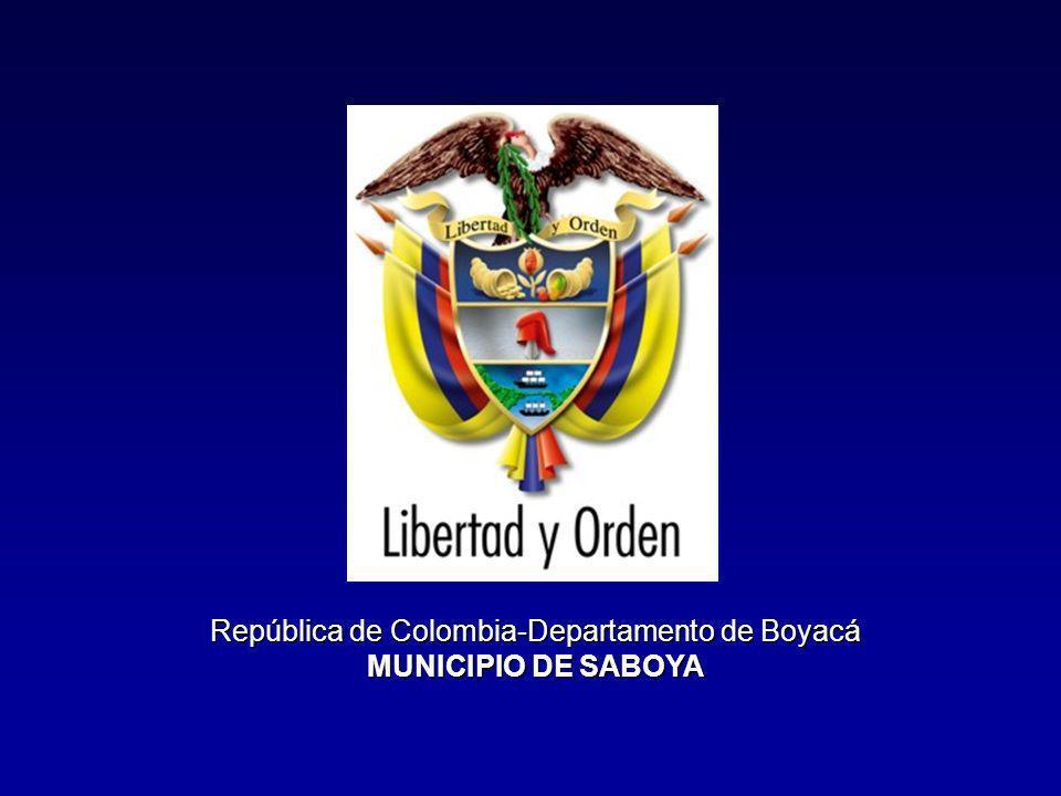 República de Colombia-Departamento de Boyacá