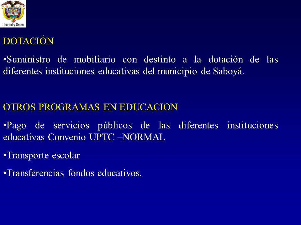 OTROS PROGRAMAS EN EDUCACION