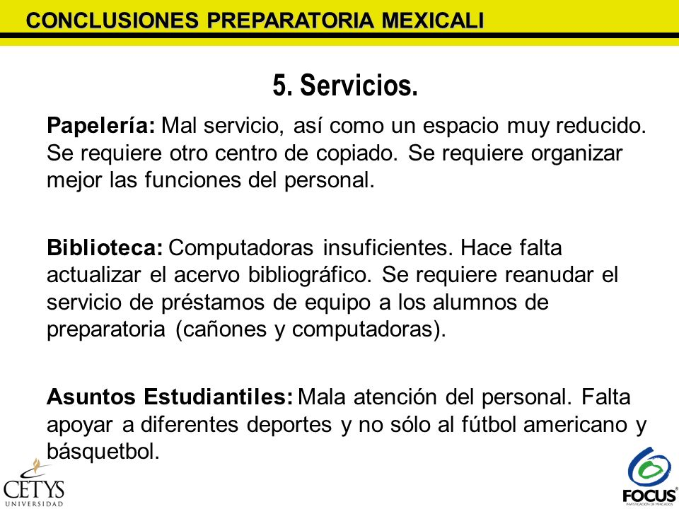 CONCLUSIONES PREPARATORIA MEXICALI
