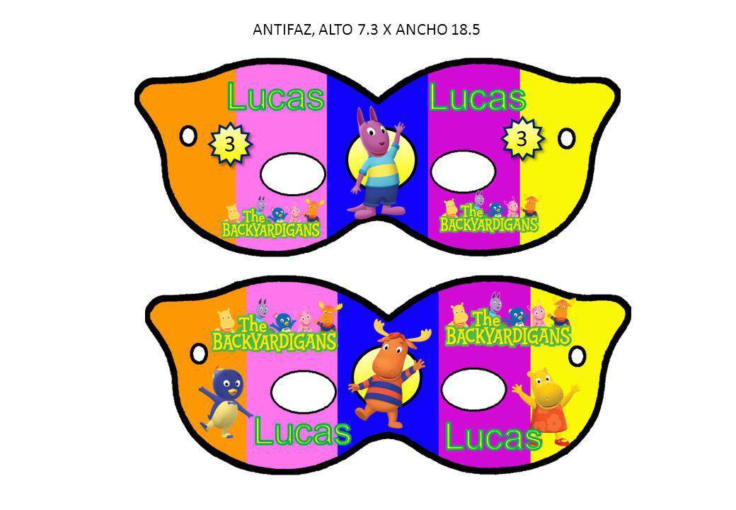 ANTIFAZ, ALTO 7.3 X ANCHO 18.5 3 Lucas Lucas