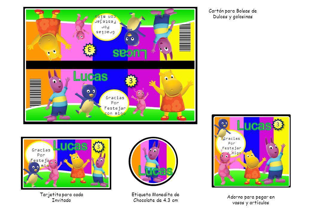 Lucas Lucas Lucas Lucas 3 3 3 Cartón para Bolsas de Dulces y golosinas