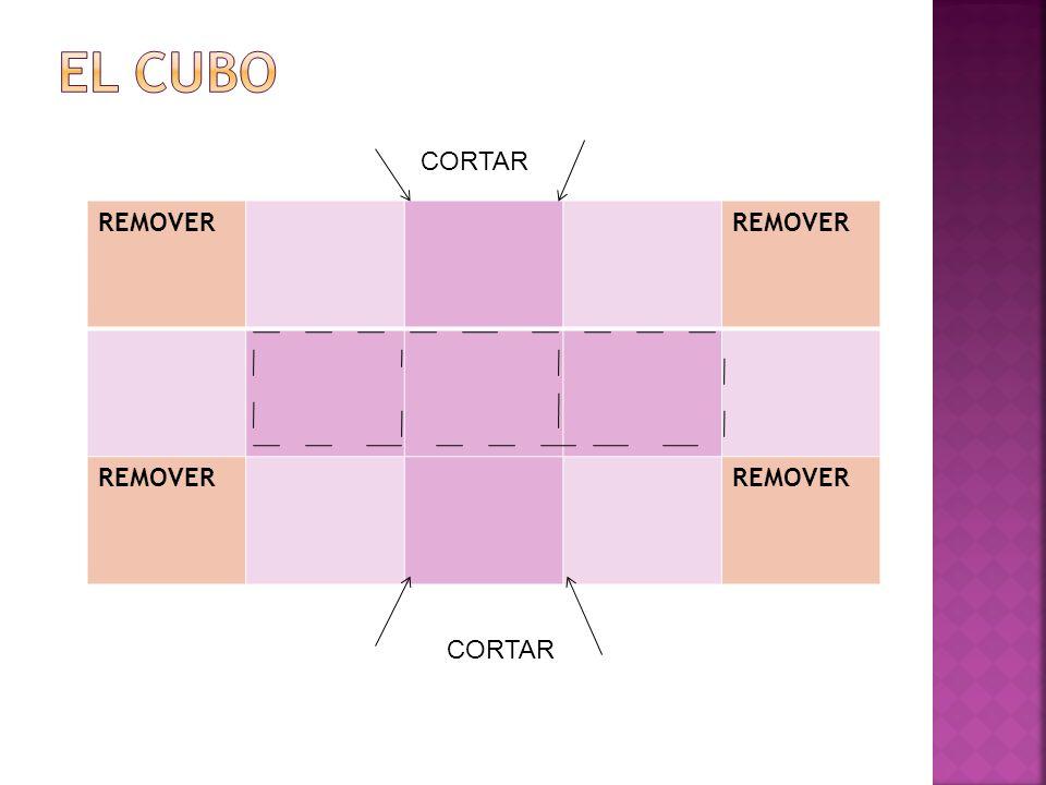 El CUBO CORTAR REMOVER CORTAR