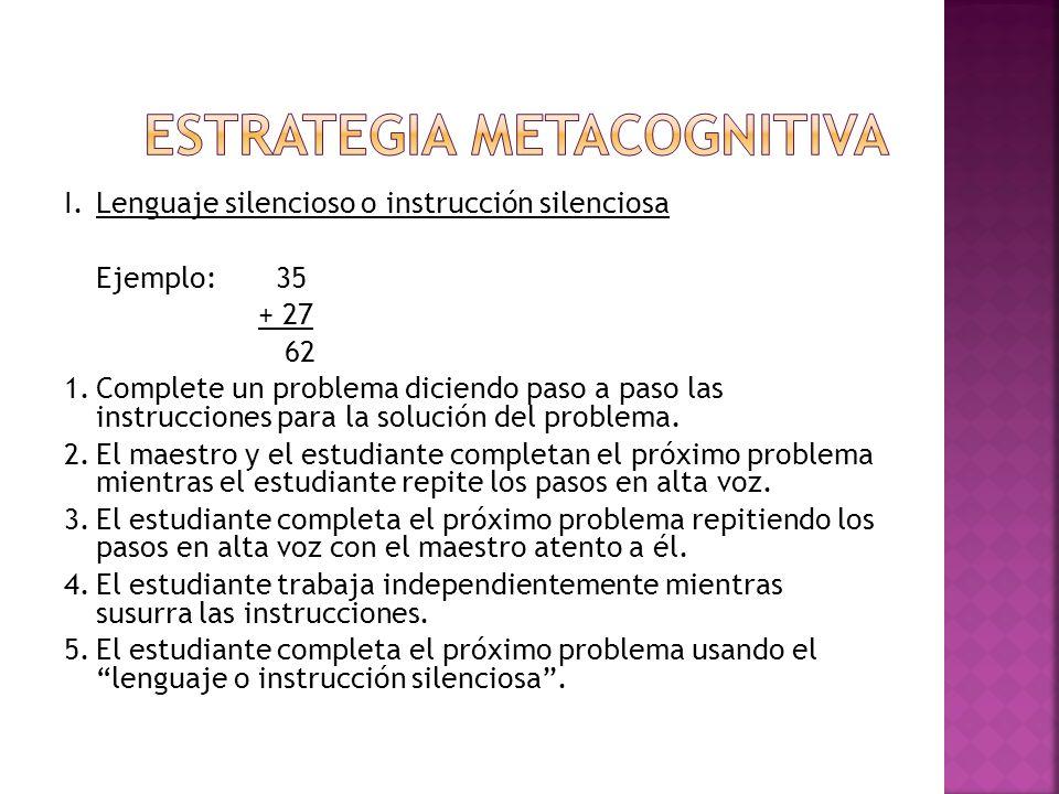 Estrategia Metacognitiva