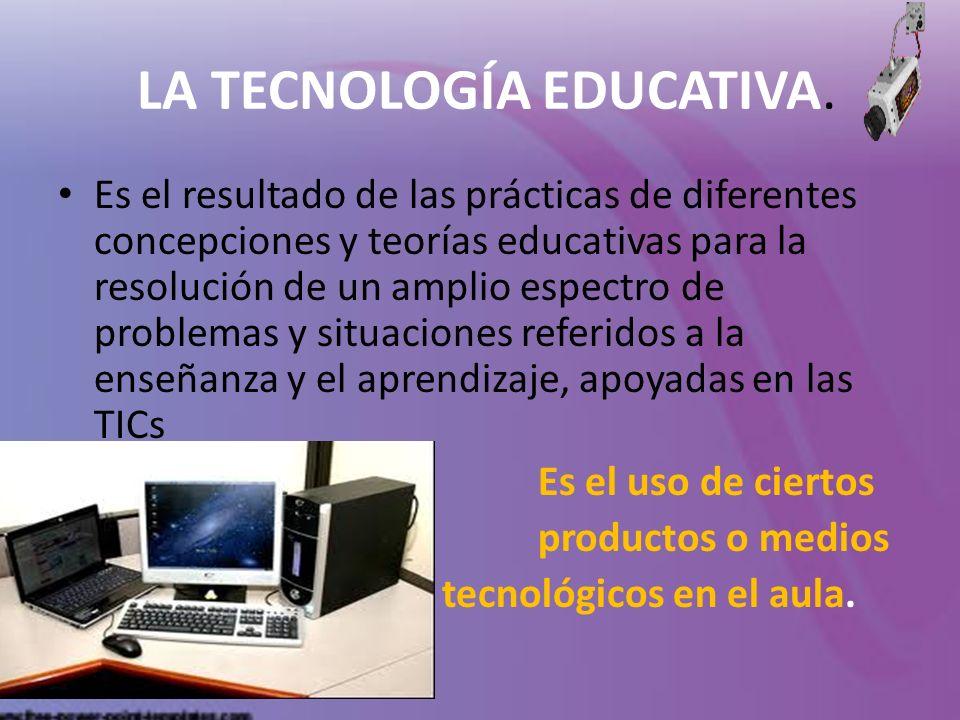 LA TECNOLOGÍA EDUCATIVA.