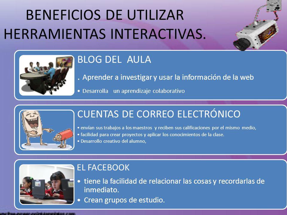 BENEFICIOS DE UTILIZAR HERRAMIENTAS INTERACTIVAS.