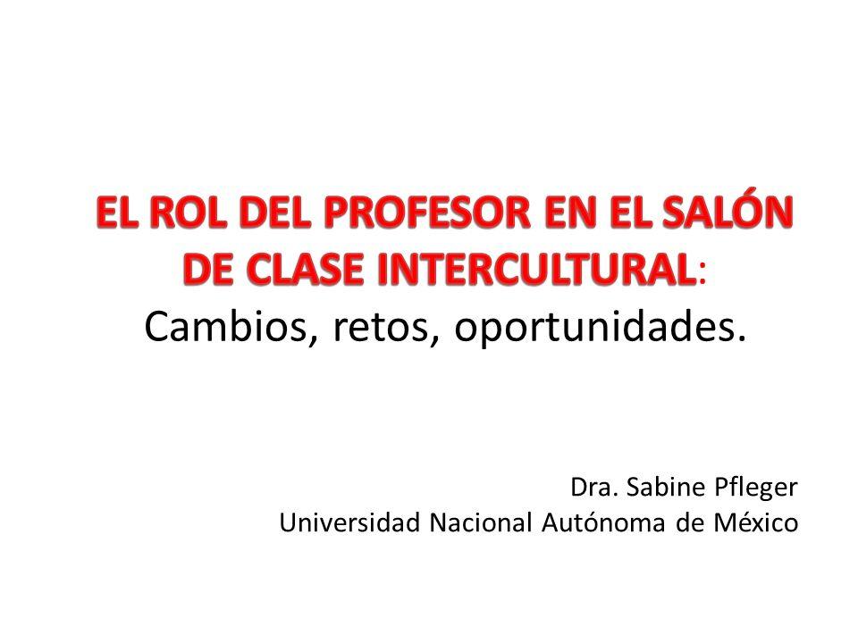 Dra. Sabine Pfleger Universidad Nacional Autónoma de México