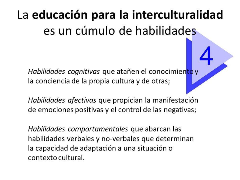 La educación para la interculturalidad es un cúmulo de habilidades