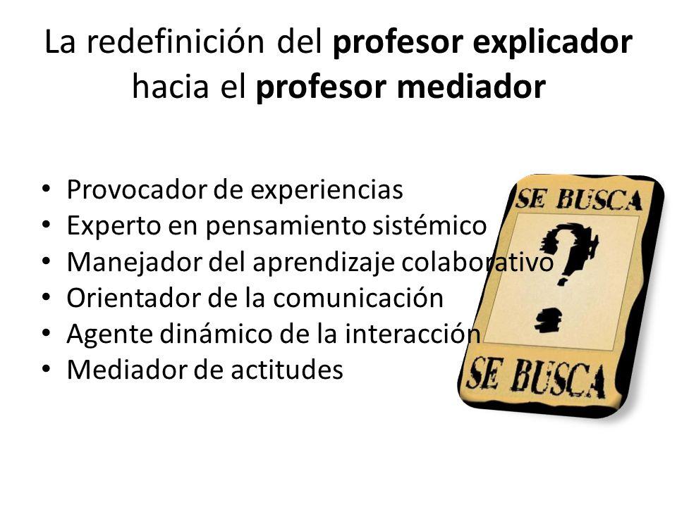 La redefinición del profesor explicador hacia el profesor mediador
