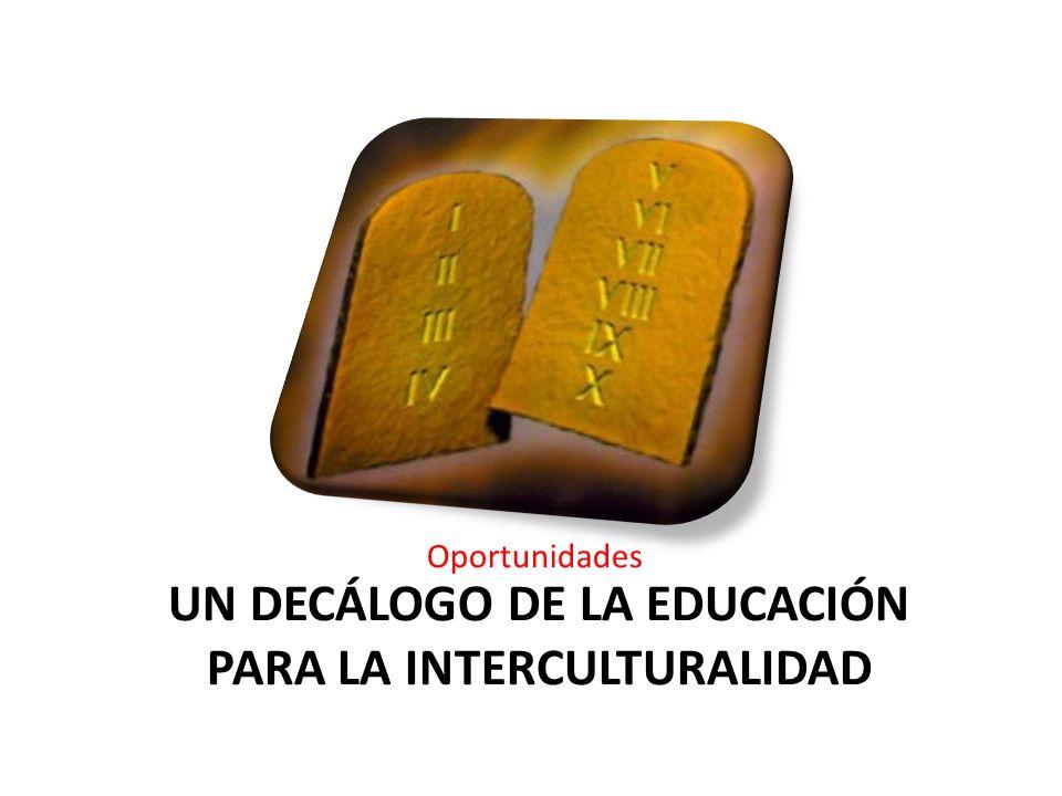 Un decálogo de la educación para la interculturalidad