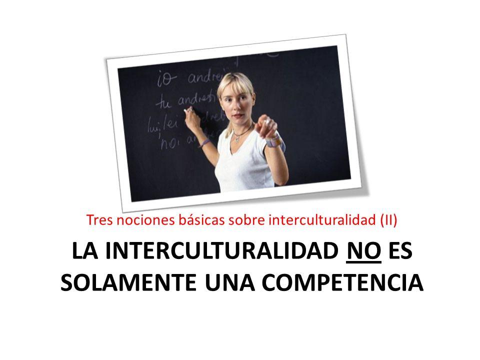 La interculturalidad NO es solamente una competencia