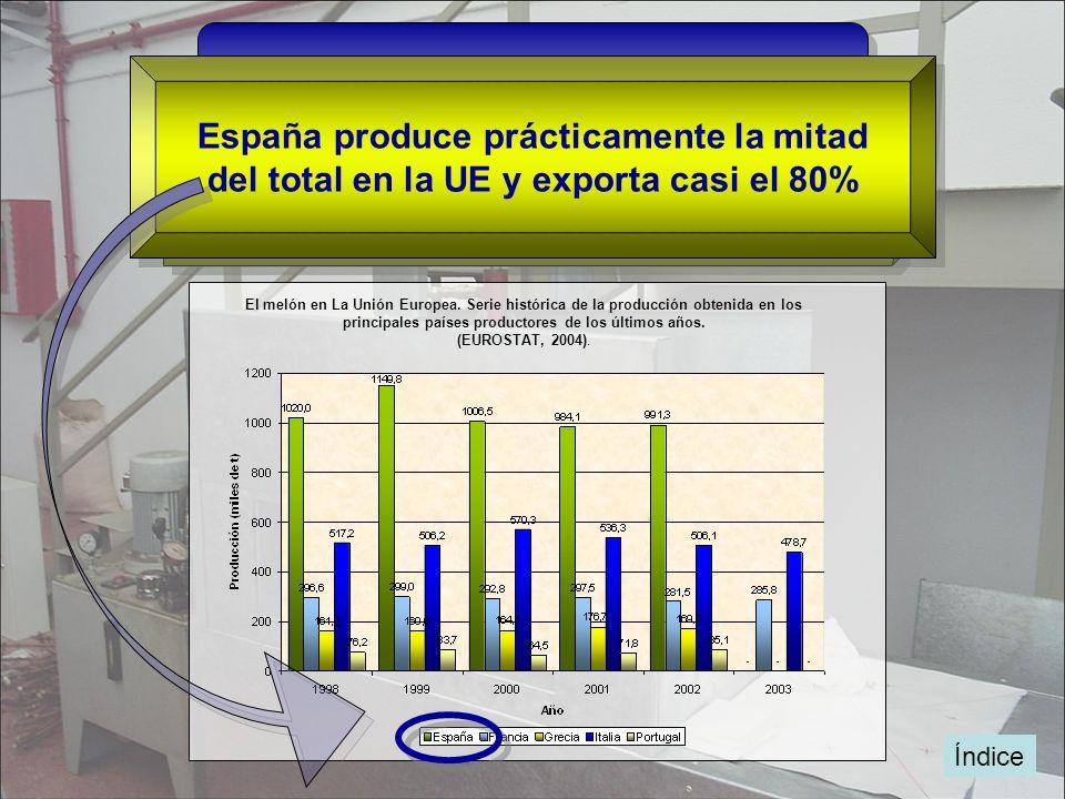 España produce prácticamente la mitad