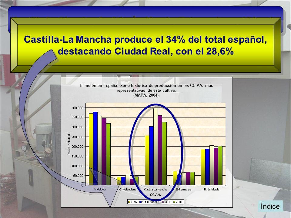 Castilla-La Mancha produce el 34% del total español,