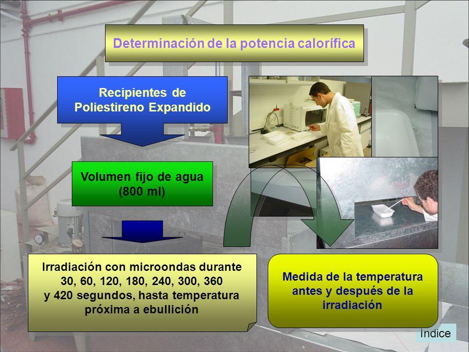 Determinación de la potencia calorífica