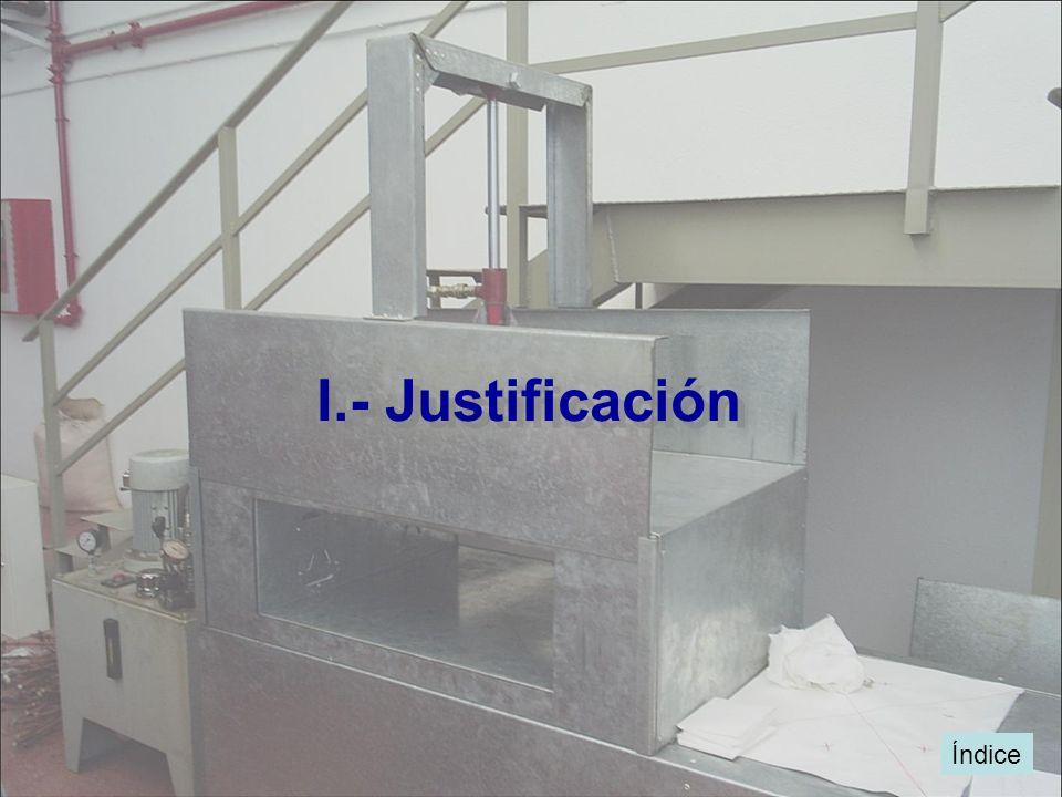 I.- Justificación Índice