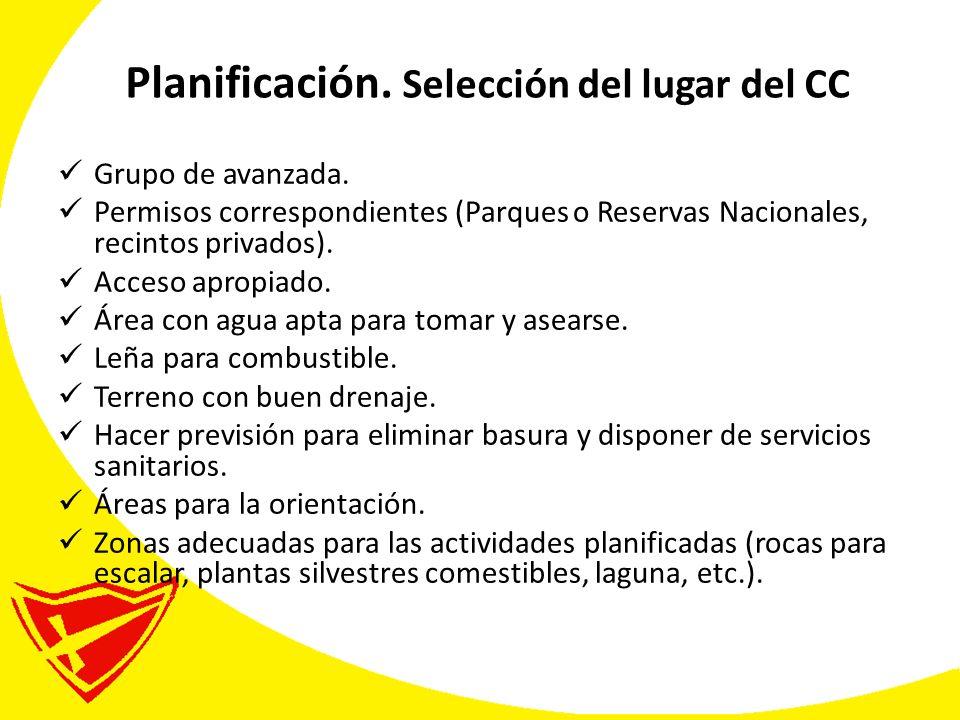 Planificación. Selección del lugar del CC