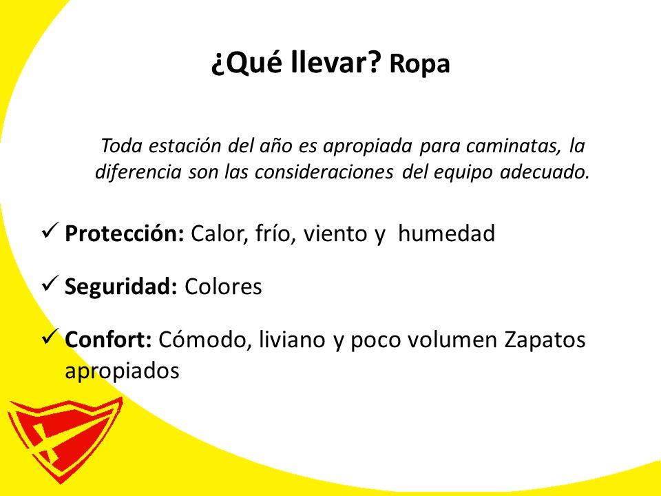 ¿Qué llevar Ropa Protección: Calor, frío, viento y humedad