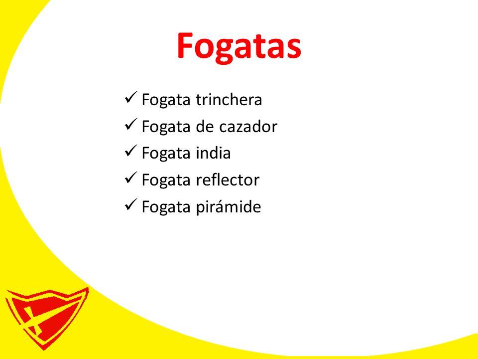 Fogatas Fogata trinchera Fogata de cazador Fogata india