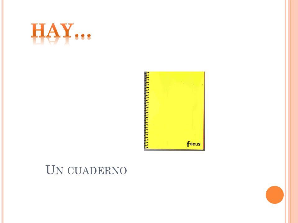 Hay… Un cuaderno