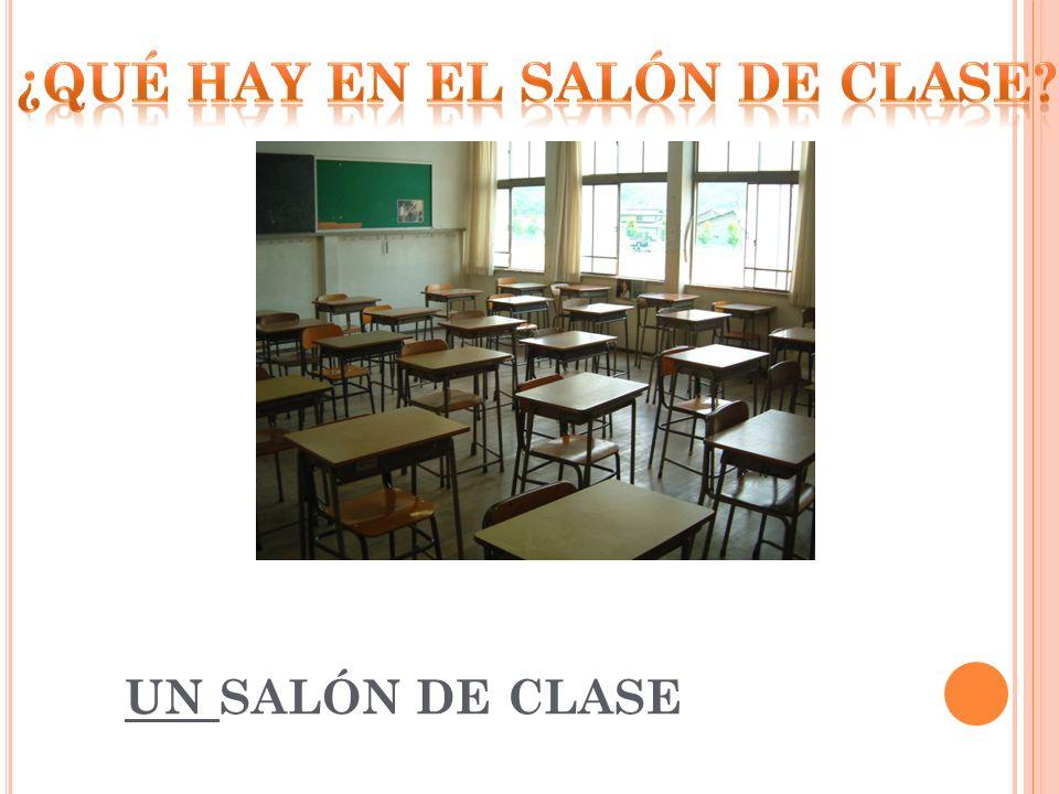 ¿Qué hay en el salón de clase