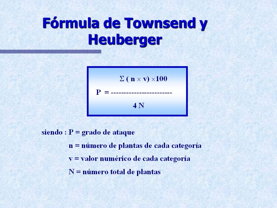 Fórmula de Townsend y Heuberger