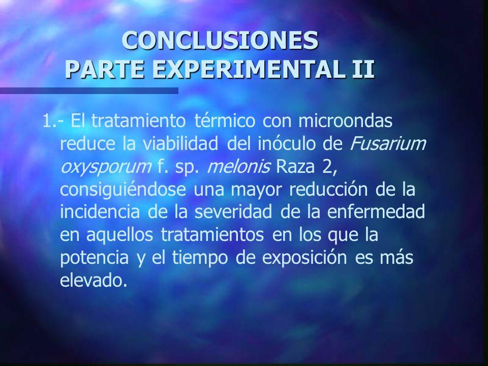 CONCLUSIONES PARTE EXPERIMENTAL II