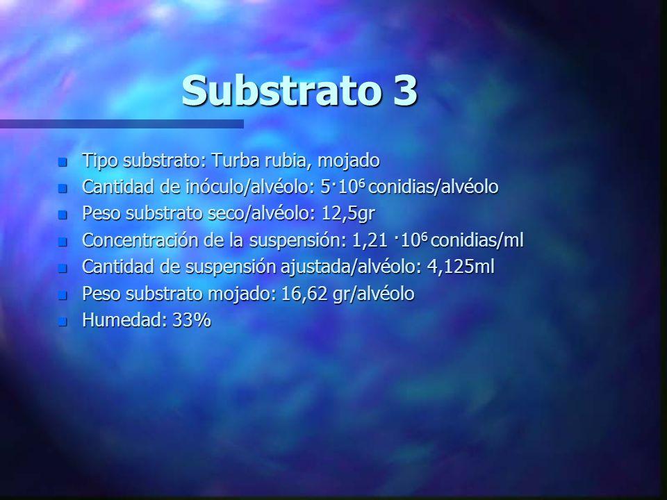 Substrato 3 Tipo substrato: Turba rubia, mojado