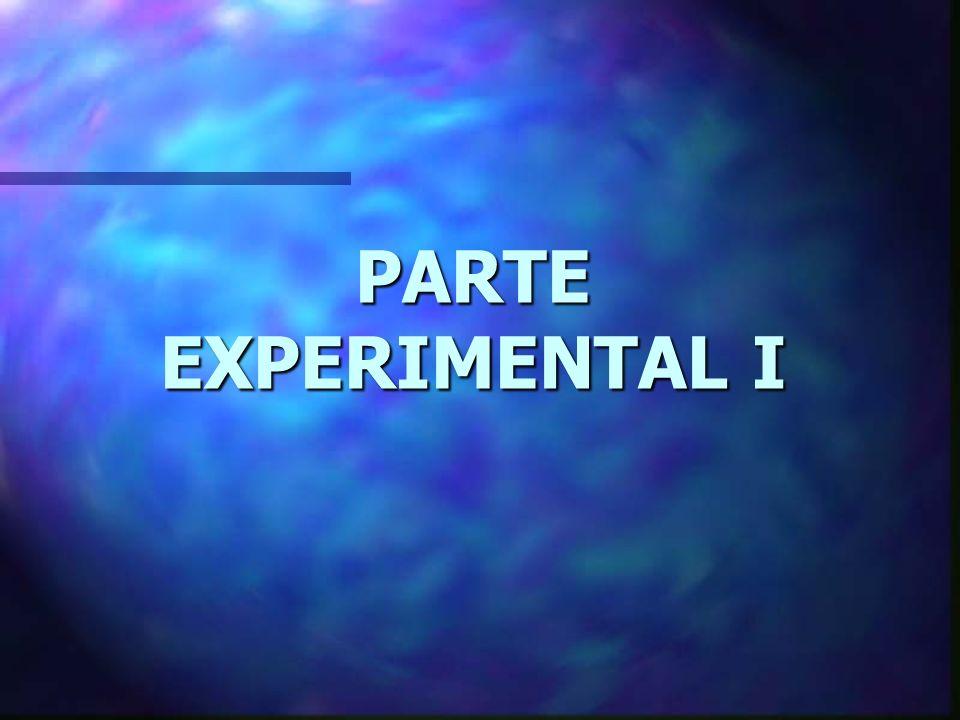 PARTE EXPERIMENTAL I