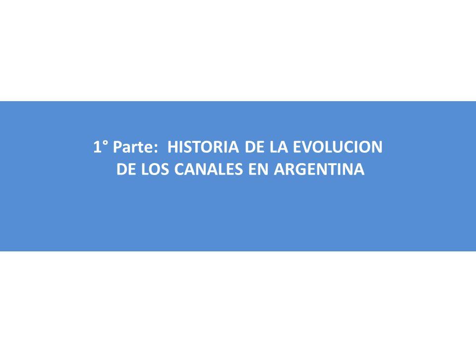 1° Parte: HISTORIA DE LA EVOLUCION DE LOS CANALES EN ARGENTINA