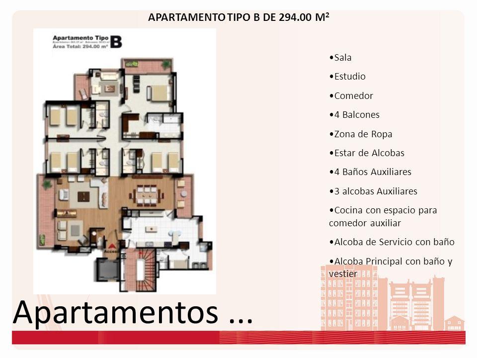 Apartamentos ... APARTAMENTO TIPO B DE 294.00 M2 Sala Estudio Comedor
